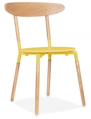 Odense Dining Chair Front Angle Yellow Seat