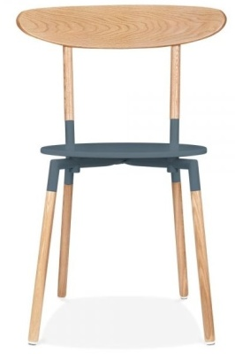 Odense Dining Chair Front View Dark Grey Seat