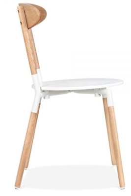 Odense Dining Chair White Seat Side Bview