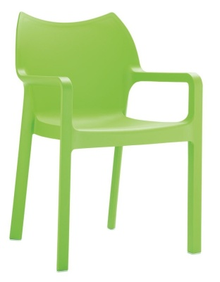 Zodiac Poly ARmchair In Lime Green