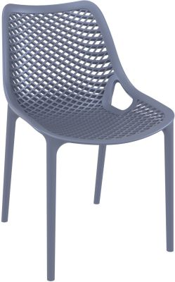 Percy Side Chair In Dark Grey