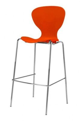 Piazza Poly High Stool Orange