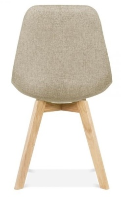 Crosstown Upholstered Chagir Beige Fabric Rear View