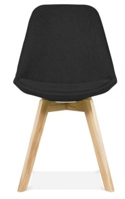Crosstown Upholstered Dining Chair Balck Fabric Front View