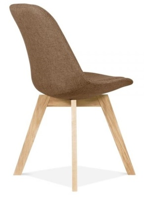 Crosstown Dining Chair Hbrown Fabric Rear Angle