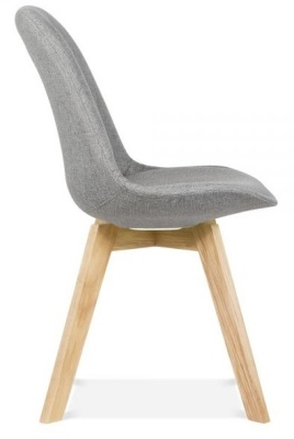 Crosstown Dining Chair Grey Fabric Side View