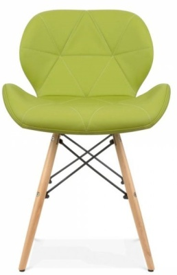 Chaz Dining Chair In Apple Green Front Shot