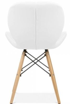 Chaz Dining Chair In White Rear View