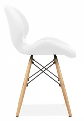 Chaz Dining Chair In White Side View