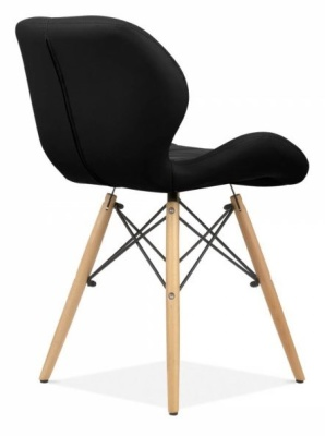 Chaz Designer Chair In Black Rear Angle