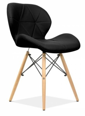 Chaz Designer Chair In Black Front Angle
