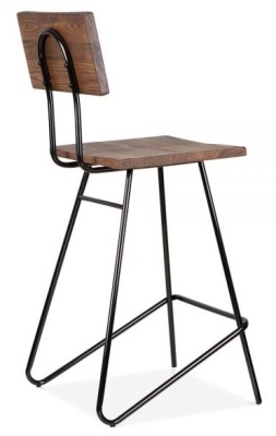 Hairpin Urban High Stool Rear Angle Black Frame