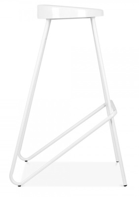 Cadiz High Stool In White Side View