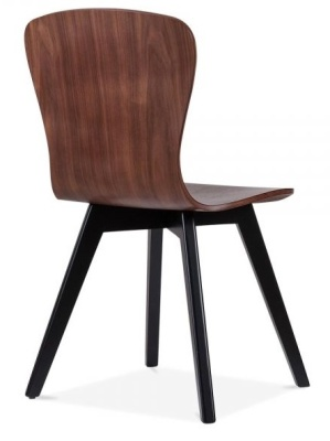 Manjhattan Dining Chair With A Black Frame Rear Angle View
