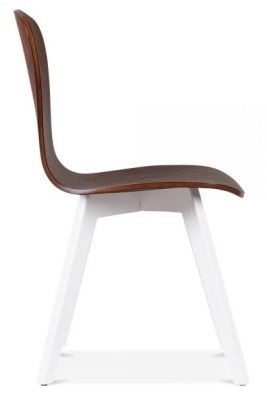 Manhattan Dining Chair White Legs Side View