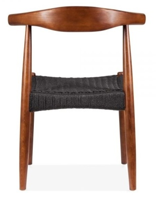 Elbow Chair With A Black Weave Seat Rear View