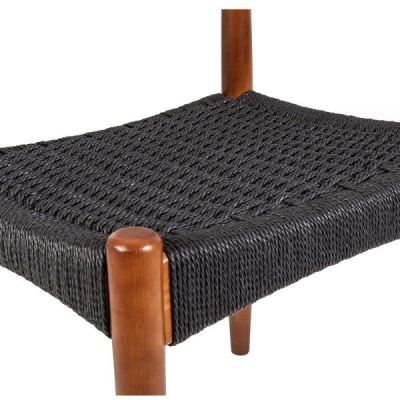 Elbow Chair Black Weave Detail