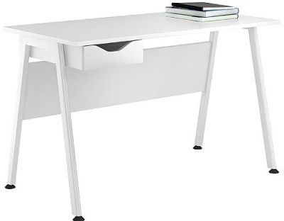 Aspire Refections Desk With A Single High Gloss White Darwer