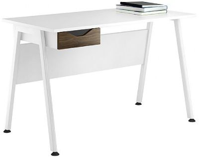 Aspire Refelctions Desk With A Dark Olive Drawer Front