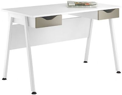 Aspire Reflections Desk With Two Drawers In Stone Finish