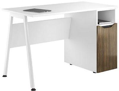 Aspire Reflections Cupboard Desk With A Dark Olive Door