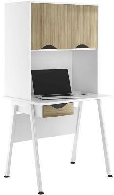 ASpire Reflections Desk And Cupboard Woth Light Olive Door