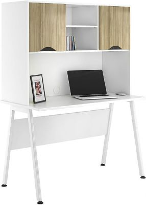 Aspire Reflections Desk With Light Olive Doors