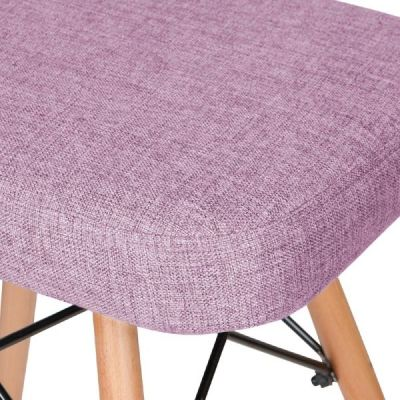 Eames Inspired Low Stool Purple Fabric Detail Shot