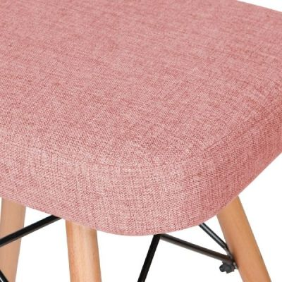 Eames Inspired Dsw Chair Pink Fabric Detail Shot