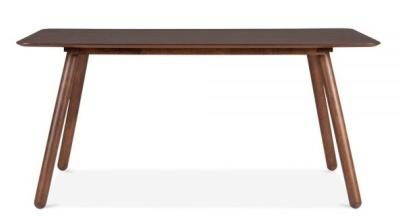 Sydney Rectangular Dining Table In Walnut Front Shot