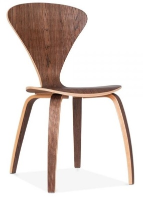 Cherner Chair In Walnut Front Angle Shot