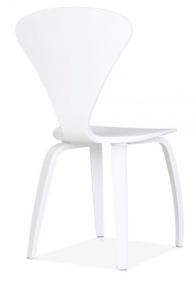 Cherner Chair In White Rear Angle
