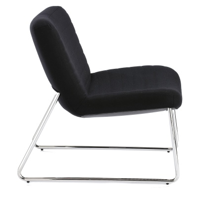 Victory Lounge Chair In Black Side View