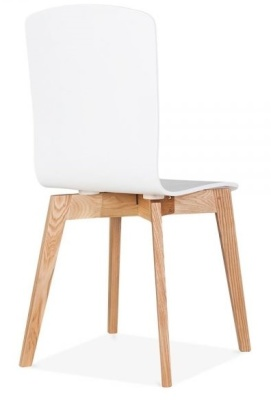 Acora Designer Cafe Chair White Finish Rear Angle