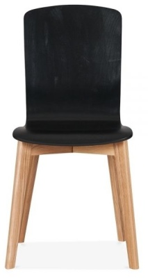 Acora Chair In Black Front View
