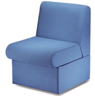 Sequest Chair No Arms Blue Fabric