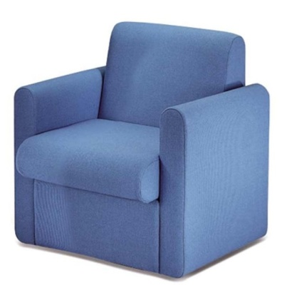 Sequeat Chair Two Arms Blue Fabric
