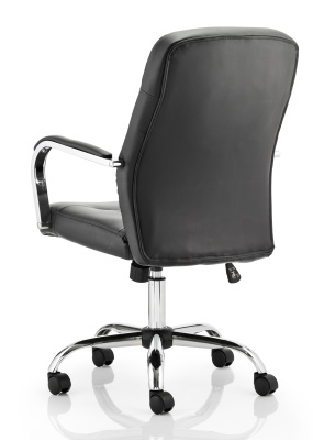 Paris Black Leather Exec Chair Rear Angle