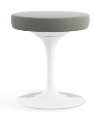 Tulip Low Stool Grey Fabric
