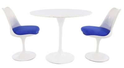 Tulip Dining Set With Two Chairs And A Round Table