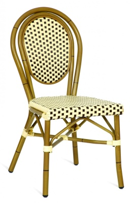 Limoges Outdoor Side Chair Brown And Cream