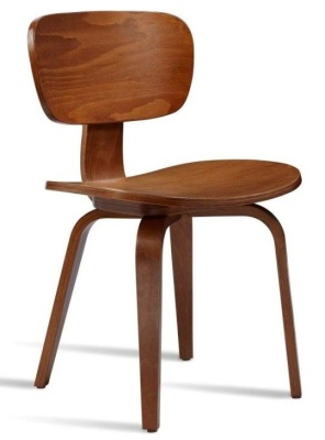 Paris Side Chair In Medium Oak