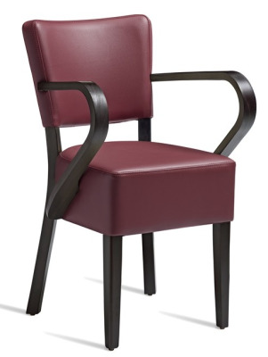 Dijon V2 Wine Leather Armchair