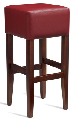 Dijon High Stool Wine Leather