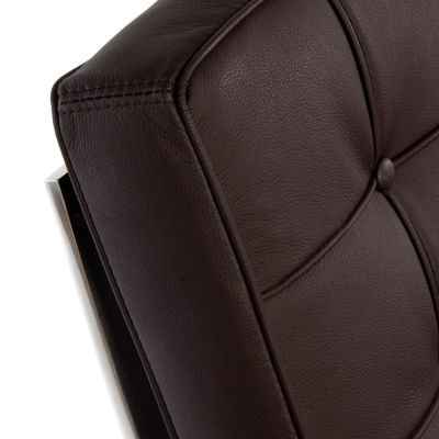 Barceloa Brown Leather Detail Shot