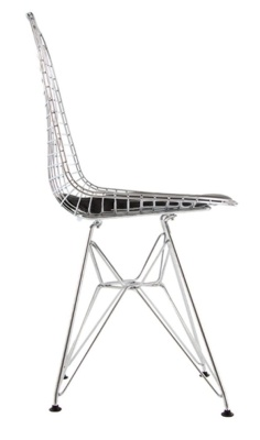 Eames Inspired DKR Chair With A Chrome Frame Side View
