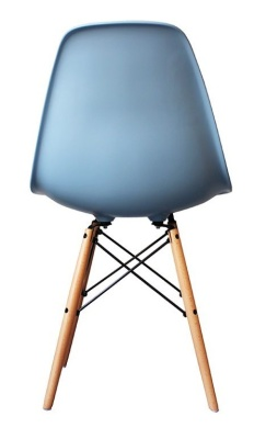 Eames Inspired Childrens DSW Chair With A Blue Seat Rear View