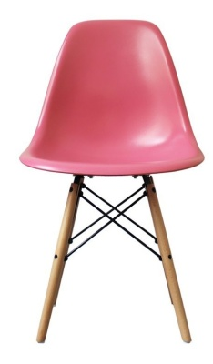 Eames Inspired Childs Chair In Pink Front View