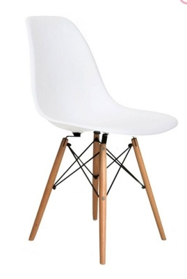 Eames Inspired Dsw Childs Chair With White Angle View