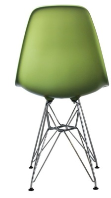Eames Inspired Dsr Childs Chair In Green Rear View